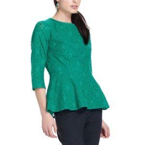 Moulinette Soeurs lace Peplum blouse lace size 2